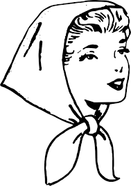 Clipart Lady in Headscarf