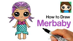 How To Draw Merbaby Easy
