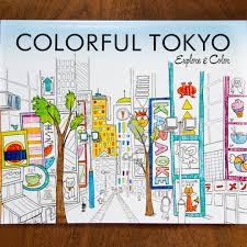 Colorful Tokyo Exploring Guide And Coloring Book