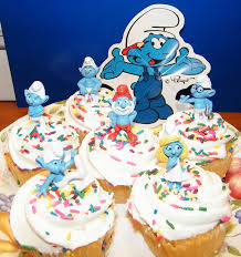 smurf cake toppers cup cake decoration figures by aa