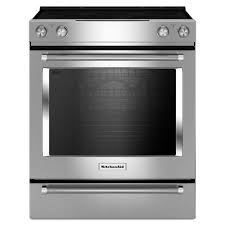 KitchenAid 64 Cu Ft Slide In Electric Range With Self Cleaning Convection
