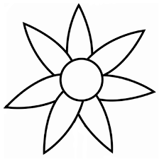 7 Petal Flower Colouring Pages