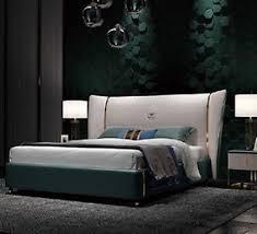 luxus schlafzimmer doppelbett bett 180 200x200cm leder metall neu hotel betten