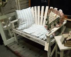 Field Trip Antique Store Shopping For Vintage Patio Garden Furniture Painted Wood Settee