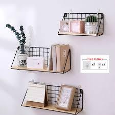 holz wand regal eisen dekorative regale storage rack home zubehör organizer organisation für küche schlafzimmer kinderzimmer