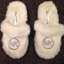 65 off michael kors shoes michael kors fuzzy knit slippers from
