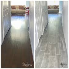 ceramictec on before after photo hallway on the