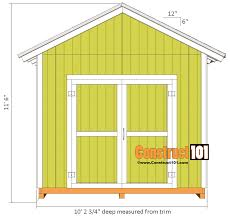 8x10 Shed Plans Materials List by Shed Plans 10x10 Gable Shed Construct101