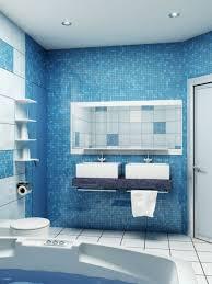 bathroom bathroom white ceramic tiles floor blue mozaic glass
