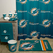Steelers Bathroom Rug Set nfl miami dolphins decorative bath collection shower curtain