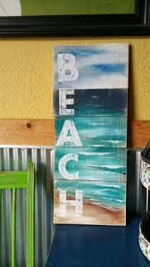 Beach Word Painting On Pallet Wood From White Birch Studio Great Reclaimed That Fits Into A Vertical S