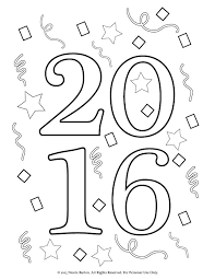 Free Printable 2016 New Years Coloring Pages For Kids Happy Year