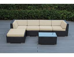 Outdoor Deep Seating Sectional Sofa by Ohana Depot Ohana 6 Piece Deep Seating Group With Cushion