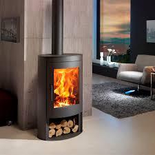 3 Sided Glass Wood Burning Fireplace