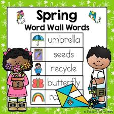 This FREE Download Includes 40 Printable Spring Word Wall Words Use Them On A Seasonal