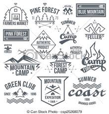 Set Of Retro Vintage Camping Badges Vector