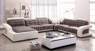 canapé sofa italien canapé d angle panoramique cuir italien 2 couleurs