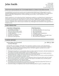Sample Resume Assistant Manager