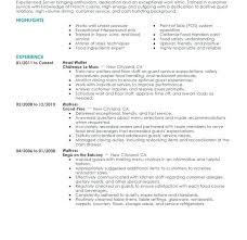 Serving Resume Examples Download Restaurant Server Sample Job Samples