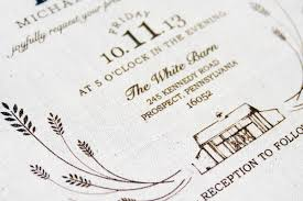 Rustic Fabric Barn Wedding Invitations By Jessi Evans Via Oh So Beautiful Paper 1