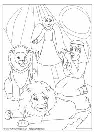 Daniel In The Lions Den Colouring Page Pictures Gallery And Coloring