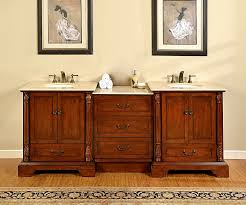 70 Bathroom Vanity Single Sink by 87 Inch Double Sink Bathroom Vanity With Middle Cabinet Of Drawers