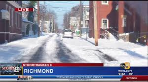 Road Conditions In The City Of Richmond Tuesday Morning
