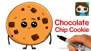 How to Draw a Chocolate Chip Cookie