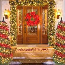 Outdoor Christmas Decorating Ideas Front Porch by 276 Best Christmas Porch Images On Pinterest Christmas Porch