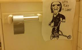 Bathroom Stall Prank Ghost by 10 Simple Ideas For Hilarious Office Pranks