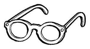 Beach Eyeglasses Colouring Page