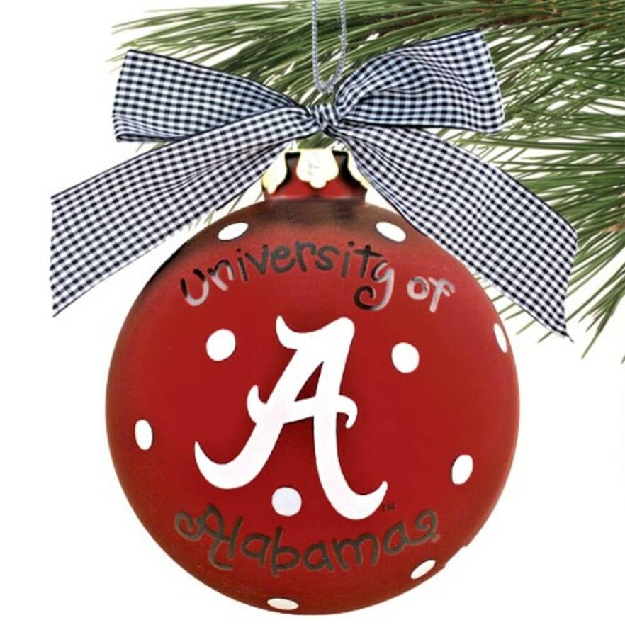 Coton Colors University of Alabama Logo Ornament
