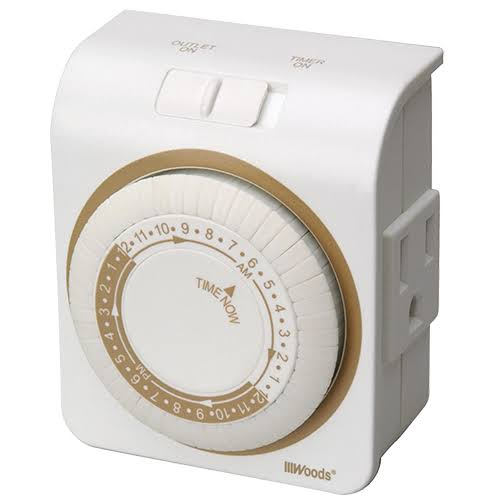 Coleman Cable Indoor Heavy Duty Mechanical Timer - 15 Amp
