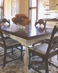 Unusual Jacobean Dining Room Set Furniture Elegant Painted Table Throughout