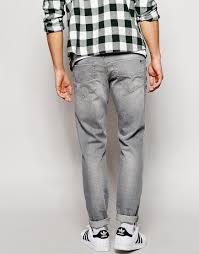 diesel jeans tepphar 839n slim fit light gray wash in gray for men