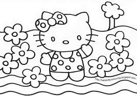 Colouring Hello Kitty Print Colour