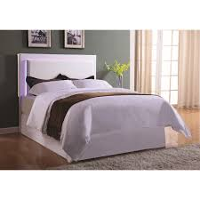 White King Headboard And Footboard by Coaster Upholstered Beds Upholstered King Headboard With Led