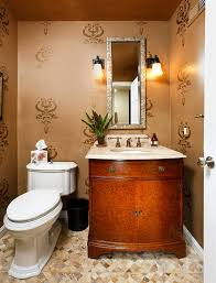 stencil designs for spray paint powder room contemporary with wall
