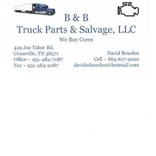 100 Salvage Truck Parts BB And LLC Automotive Store