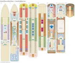 Carnival Conquest Deck Plans by Royal Princess Deck Plans Diagrams Pictures Video