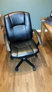 Walmart Swivel Chair Hunting by Mainstays Mid Back Leather Office Chair Black Walmart Com