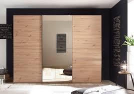schwebetürenschrank orlando 3 türig kleiderschrank schrank schlafzimmer artisan eiche mit spiegel 270cm