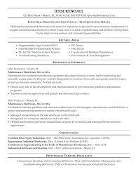 Resume Of Maintenance Engineer Electrical