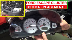 how to replace instrument cluster light bulb on ford escape and