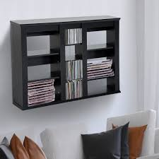 Leslie Dame Media Storage Cabinet Uk by Dvd Holder Wall Mount Cd Storage Shelves Wall Mounted Pertaining