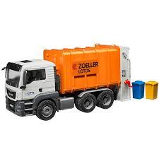 100 Bruder Cement Truck MAN TGS Rear Loading Garbage Orange Educational