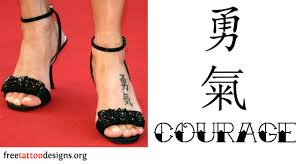 Natalie Imbruglias Foot Tattoo Meaning Courage