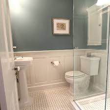 master bathroom design decisions tile vs wood wainscoting