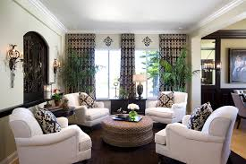 houzz family room family room traditional with black trim beige chairs