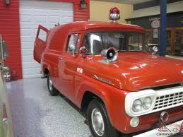 100 Ford Fire Truck 1958 F100 Panel VAN Engine Rescue Vehicle Very